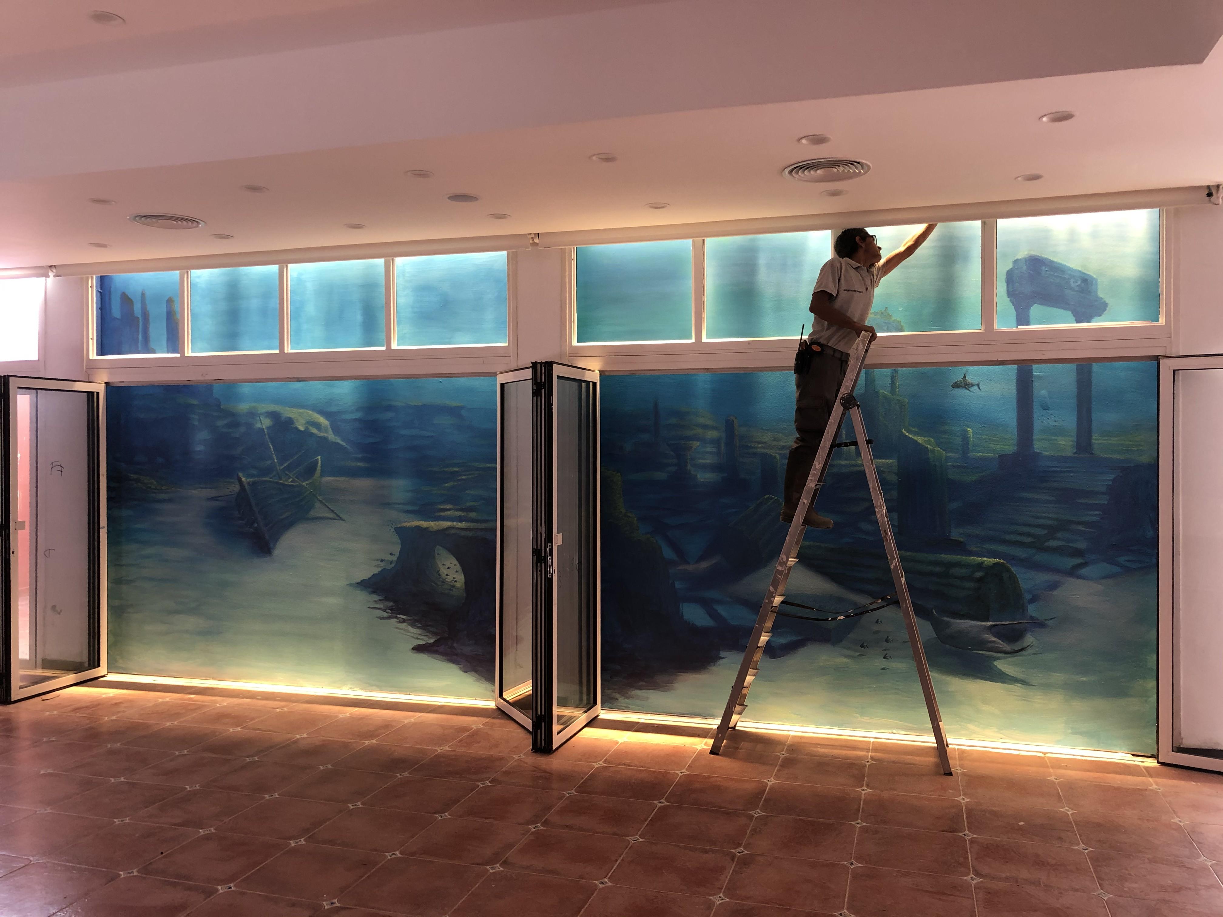 Victor, der Maler des Hotels El Duque